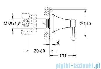 Grohe Grandera przełącznik pięciodrożny chrom/złoty 19942IG0