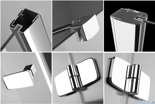 Radaway Kabina prysznicowa Fuenta KDJ+S 90x90x90 prawa szkło przejrzyste + Brodzik Argos C + syfon 81030-01R1 / 381030-01R2