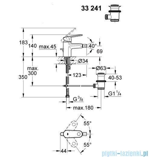 Grohe Europlus jednouchwytowa bateria bidetowa DN 15 33241002