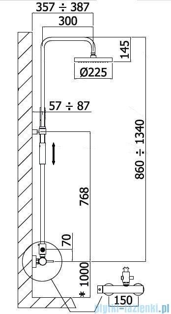 Paffoni Master Plus Kolumna prysznicowa z baterią chrom ZCOL601CR