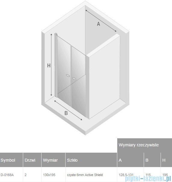 New Trendy New Soleo drzwi wnękowe dwuskrzydłowe 130x195 cm przejrzyste D-0168A