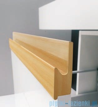 Antado Combi szafka lewa z blatem lewym i umywalką Mia biały/jasne drewno ALT-141/45-L-WS/dn+ALT-B/1-1000x450x150-WS+UCS-TC-60