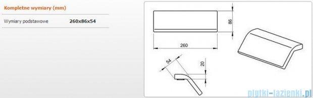 Sanplast zagłówek poliuretanowy 26x8,6x5,4cm manhatan 661-A0025-11