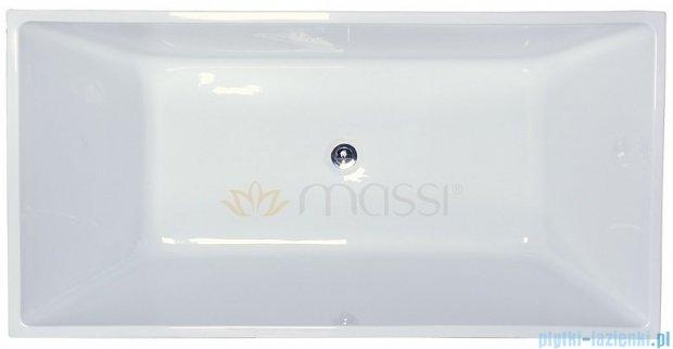 Massi Tasse 170 wanna wolnostojąca prostokątna 170x78cm biała MSWA821170