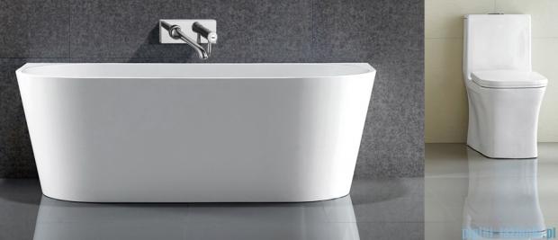 Massi Wall 170 wanna wolnostojąca przyścienna 170x80cm biała + syfon MSWA-6815B170