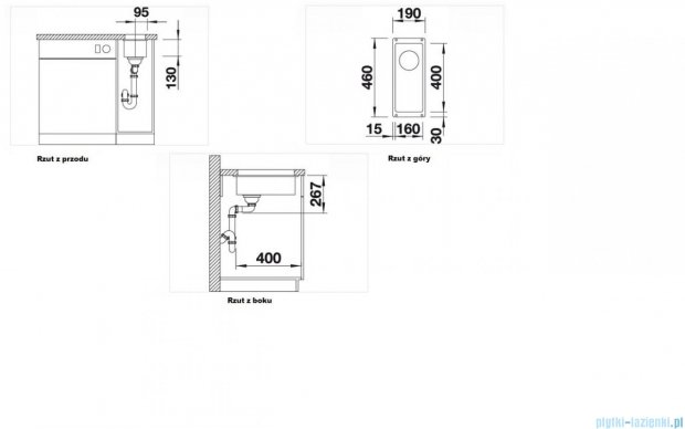 Blanco Subline 160-U zlewozmywak Silgranit PuraDur  kolor: antracyt  bez k. aut.  513399