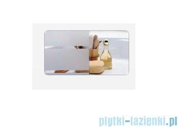 Sanplast kabina przyścienna półokrągła KT/KP-c-90 szkło: Sitodruk W4  600-013-1132-01-410
