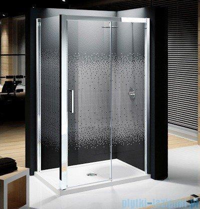Novellini Elysium Kuadra 2P Drzwi przesuwne 144cm Prawe szkło przejrzyste profil chrom KUAD2P144D-1K