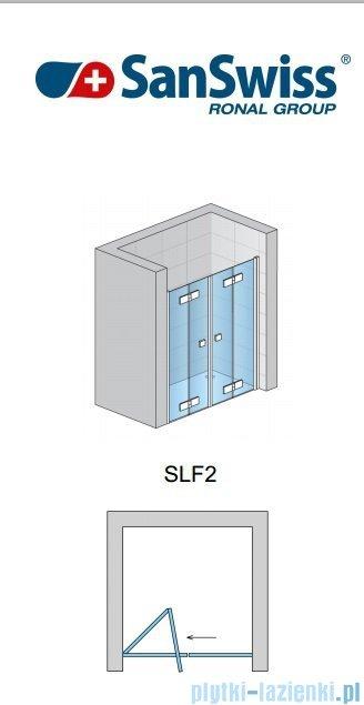 SanSwiss Swing Line F SLF2 Drzwi składane 120-180cm profil srebrny SLF2SM10107