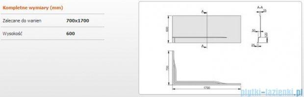 Sanplast Free Line obudowa do wanny prawa OWPLP/FREE 70x170cm biała 620-040-0100-01-000