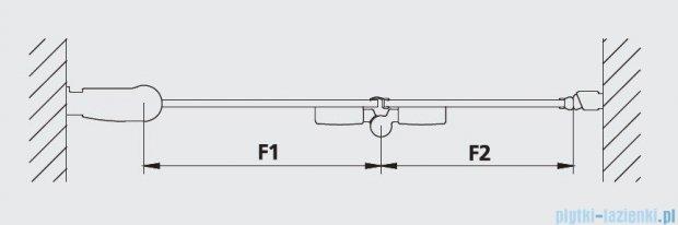 Kermi Diga Drzwi wahadłowo-składane, lewe, szkło przezroczyste, profile białe 70x200 DI2DL070202AK