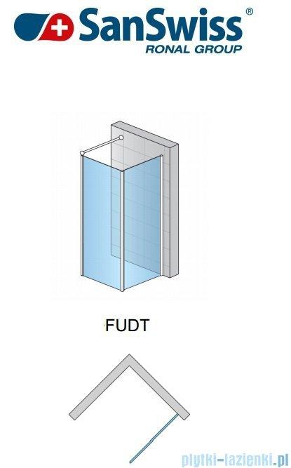 SanSwiss Fun Fudt Ścianka dodatkowa 90° 120cm profil połysk FUDT12005007