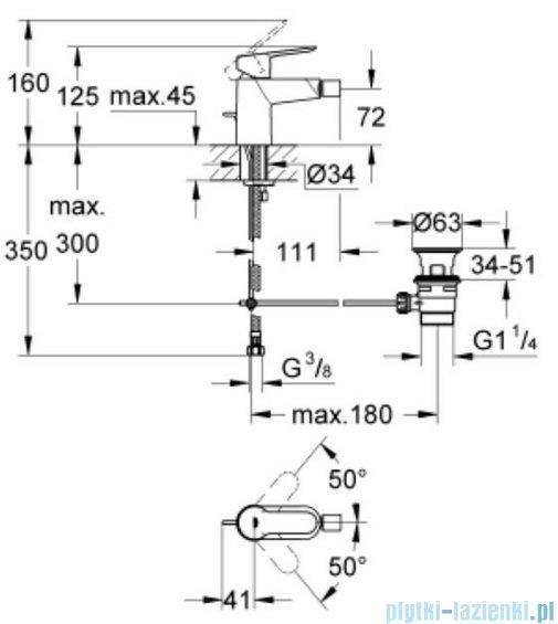 Grohe Bauedge bateria jednouchwytowa bidetowa stojąca chrom 23331000