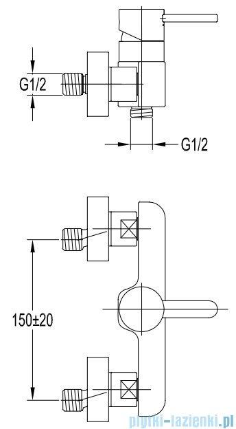 Omnires Darling zloty bateria prysznicowa złoto PVD DA5040ZL