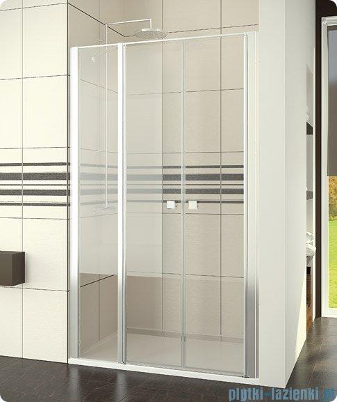 SanSwiss Swing-Line Drzwi 2-częściowe ze ścianką stałą w linii 140cm SL3214000107