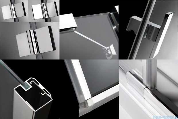 Radaway Essenza KDJ+S kabina 80x120x80 lewa szkło przejrzyste + Brodzik Doros D + syfon 32932-01-01L