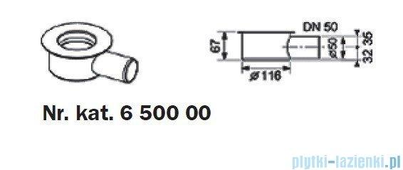 Tece Kolano odpływowe z syfonem Tecedrainline 0,70l/s 6.500.00