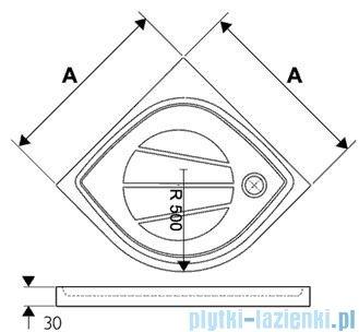 Ravak Brodzik półokrągły Elipso PRO-100 XA23AA01010