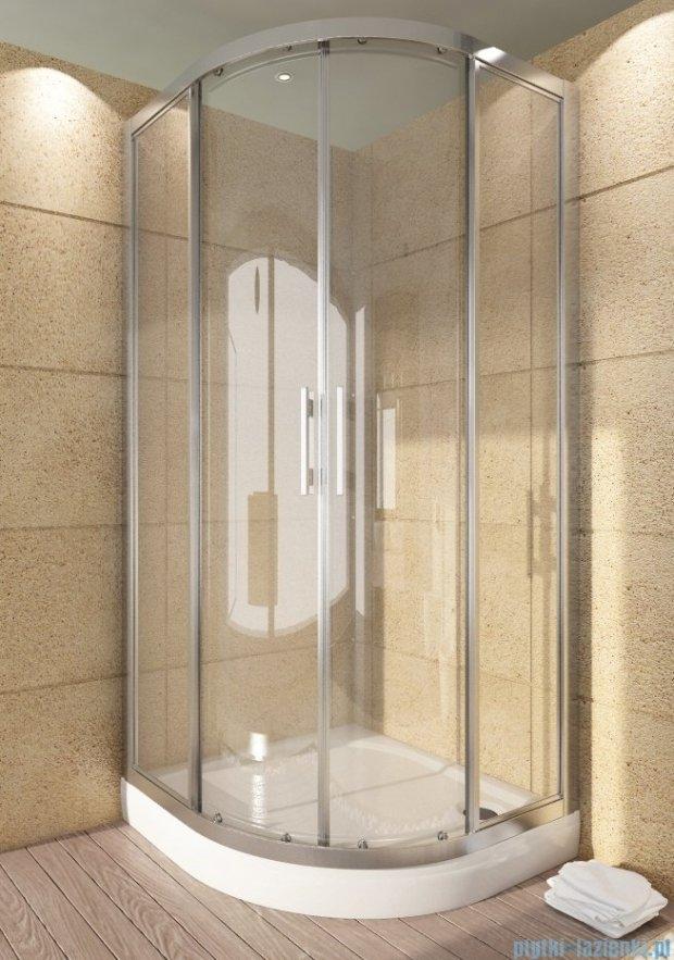 SanSwiss Top-Line TOPR Kabina prysznicowa półokrągła 75-90cm profil biały TOPR55SM10407