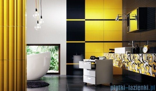 Dekor ścienny Tubądzin Colour Gray 32,7x59,3