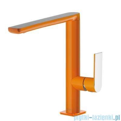 Tres Loft Colors Bateria umywalkowa z korkiem automatycznym kolor pomarańczowy 200.205.02.NA.D