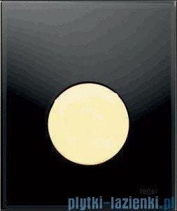 Tece Przycisk spłukujący ze szkła do pisuaru Teceloop szkło czarne, przycisk biały 9.242.654