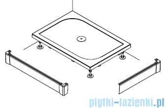 SanSwiss PWIL Obudowa do brodzika 2-stronna 80x120cm biała PWIL08012004
