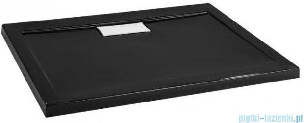Polimat Comfort brodzik akrylowy posadzkowy 100x80 czarny mat 00165