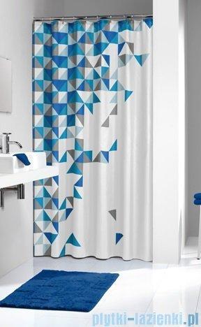 Sealskin Tangram Blue zasłona prysznicowa tekstylna 180x200cm 235231324