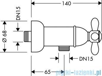 Hansgrohe Axor Montreux 2-uchwytowa bateria prysznicowa DN15 chrom/złoty 17630090