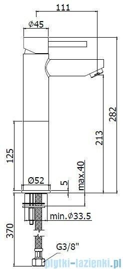 Paffoni  Bateria umywalkowa stojąca Stick wysoka chrom SK071HCR120
