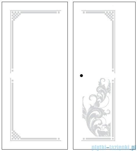 Kerasan Retro Kabina prostokątna lewa szkło dekoracyjne przejrzyste profile brązowe 80x96 9143N3