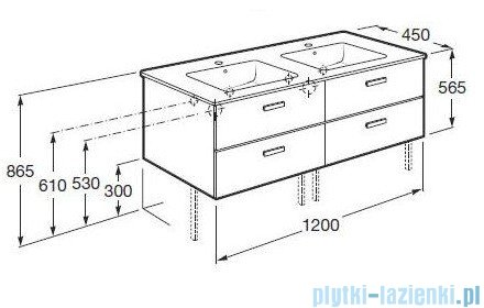 Roca Victoria Basic Zestaw łazienkowy Unik szafka z umywalką 120cm orzech A855850222