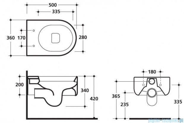 Kerasan Flo miska WC wisząca 311501