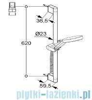 Kludi A-QAs Zestaw natryskowy 3S 60cm chrom 6573005-00
