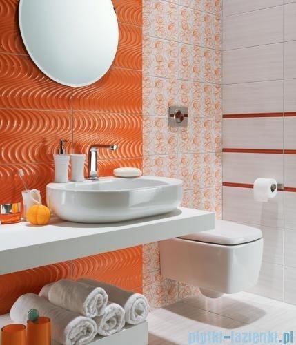 Tubądzin Wave modern orange listwa ścienna 7,1x44,8