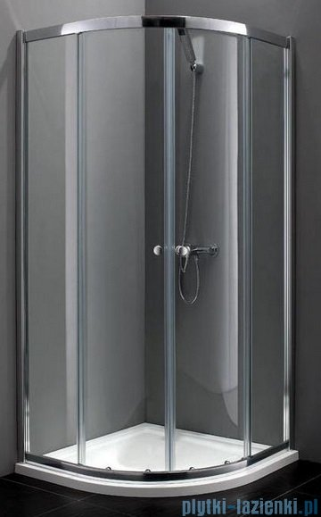 Atrium Bari kabina półokrągła 80x80x190 cm szkło: przejrzyste FF0408