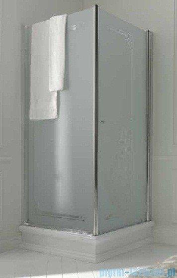 Kerasan Retro Kabina kwadratowa lewa szkło dekoracyjne piaskowane profile złote 90x90 9147P1