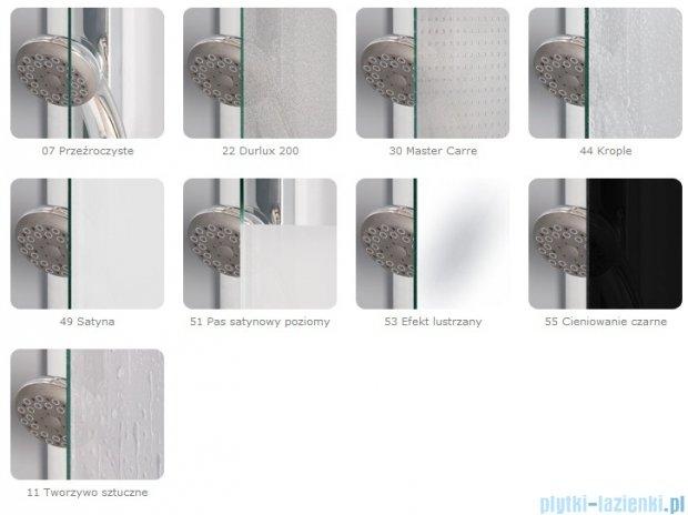 SanSwiss Pur PUE1 Wejście narożne 1-częściowe 40-100cm profil chrom szkło Pas satynowy Prawe PUE1DSM11051