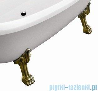 Besco Otylia 170x77cm Wanna owalna Retro biało-czarna+nogi mosiądz