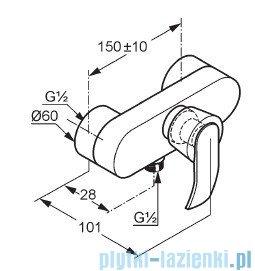 Kludi Joop Bateria natryskowa jednouchwytowa DN 15 chrom 554230575