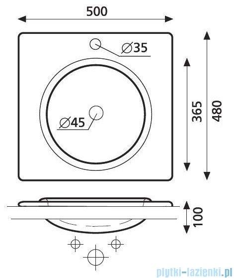 Bathco umywalka blatowa Luna 50x48 cm 4005