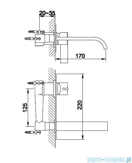 Kohlman Dexame Podtynkowa bateria umywalkowa QW185D
