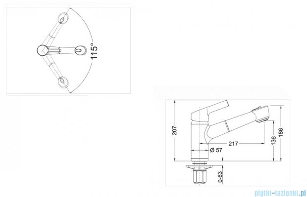 Blanco Elipso-s II  bateria wysokociśnieniowa kolor: antracyt 514866