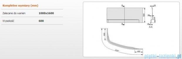 Sanplast Obudowa do wanny Free Line prawa, OWAP/FREE 100x160 cm 620-040-1640-01-000