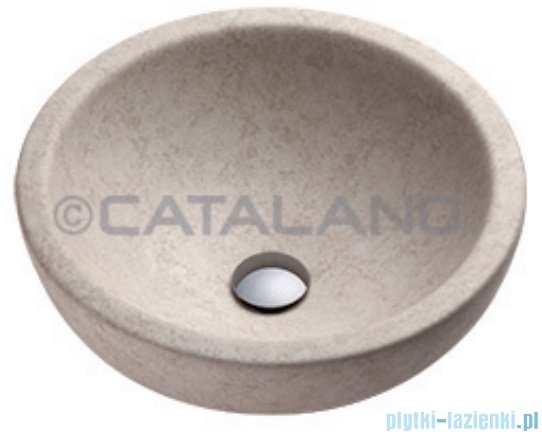 Catalano Sfera Travertino 35 umywalka nablatowa 35x35 beż 135ACTR