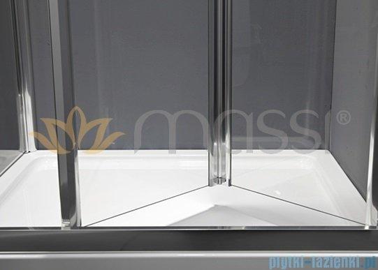 Massi Case drzwi prysznicowe składane 90x185cm przejrzyste MSKP-FA920-90