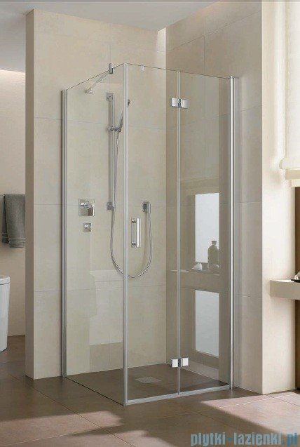 Kermi Diga Drzwi wahadłowo-składane do ściany bocznej, prawe, szkło przezroczyste, profile białe 100x200 DI2SR100202AK