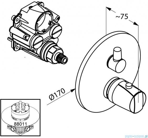 Kludi Mx/Objekta Podtynkowa bateria wannowo-natryskowa chrom 358300538