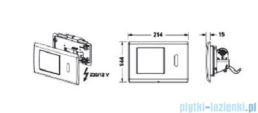 Tece Mechanizm spłukujący elektroniczny-do WC Teceplanus stal chromowa (połysk) 9.240.353